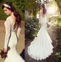 Backless Lace Wedding Dress Designers Backless Bridal Gown