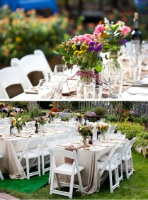 Backyard Wedding Centerpiece Ideas