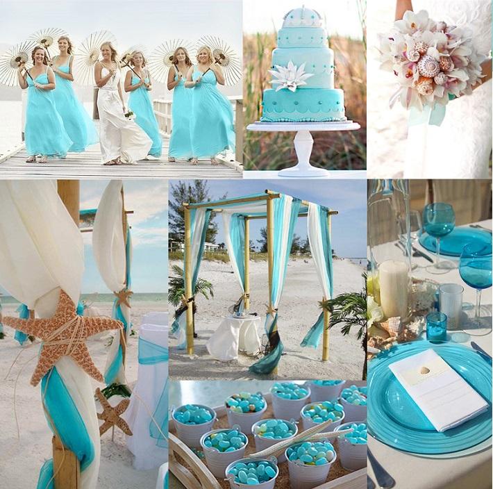 Indoor Beach Themed Wedding