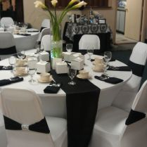 Black And White Wedding Reception Decorations On Decorations With