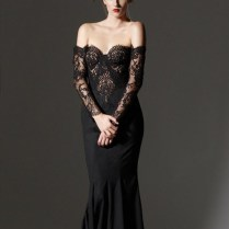 Black Long Sleeve Lace Wedding Dress, 16, 2015 At 600 804 In 10