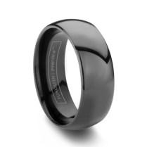Black Tungsten Rings (75 Off) Mens Black Wedding Bands