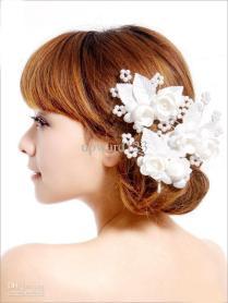 Bridal Pink Flower Hair And Wrist Flower Bridal Head Flower