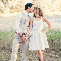 Casual Wedding Dress With Cowboy Boots