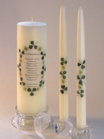 Celtic Attic Wedding Candles, Claddagh Unity, Altar Candles