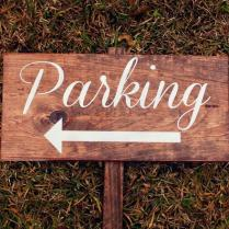 Ceremony Parking Wedding Sign