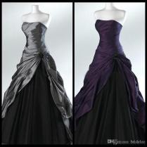 Cheap Purple Gothic Wedding Dresses