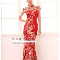 Chinese Wedding Dress Qipao Kwa Cheongsam 23b