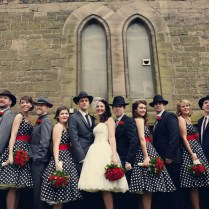 Claire And Jims 1950s American Gangster Themed Wedding By