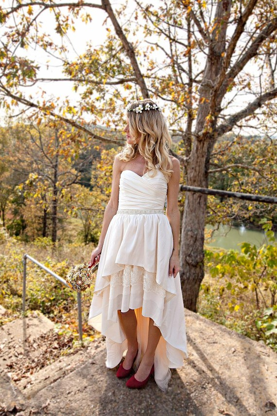 Collection High Low Wedding Dress With Cowboy Boots Pictures