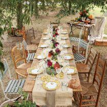 Country Wedding Table Ideas Burlap 1