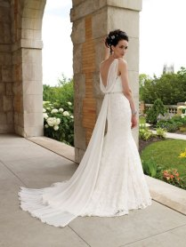 Cowl Back Wedding Dresses