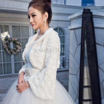 Dress And Jacket For Winter Wedding