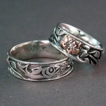 "East Meets West In ""our Story"" Custom Wedding Rings"