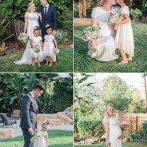 Elegant Backyard Blended Family Wedding