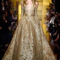 Elie Saab Gold Wedding Dresses