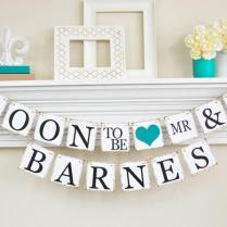 Engagement Party Decor, Bridal Shower, Soon To Be Banner
