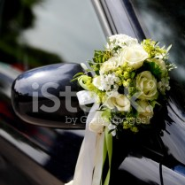 Flower Decoration Wedding Car Stock Photos