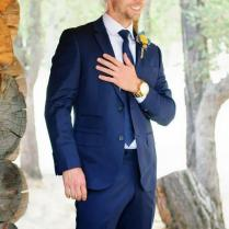 Formal Blue Wedding Suits For Men Back Vent Men Tuxedos Suits For