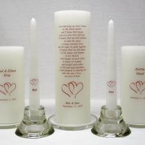 Frans Candles Wedding Unity Candles