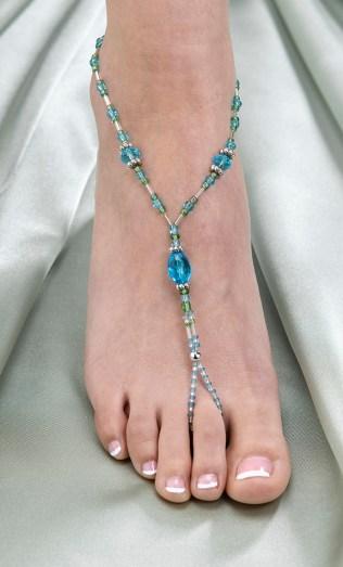 Fun Beach Wedding Bead Foot Jewelry
