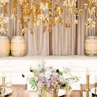 Gallery Gold Fall Leaves Wedding Decor Ideas