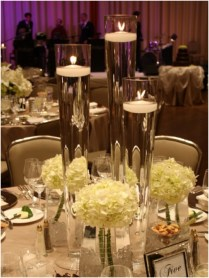 Gallery Tiffany Blue Beach Candle Wedding Centerpieces