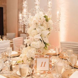 Gold And White Wedding Decorations