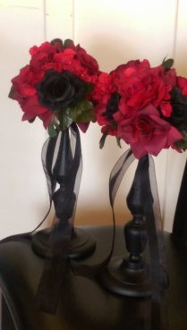 Gothic Wedding Centerpieces