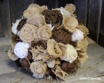 Gypsyfarmgirl Burlap And Lace Bride's Wedding Bouquet