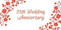 Happy Twenty Fifth Wedding Anniversary Dear