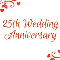 Happy Twenty Fifth Wedding Anniversary Dear