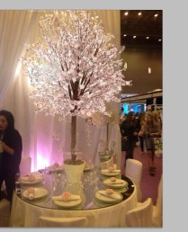 High Quantity Outdoor Lighted Artificial Cherry Blossom Trees For