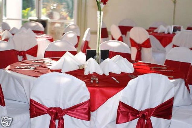 Images Of Red And White Wedding Theme