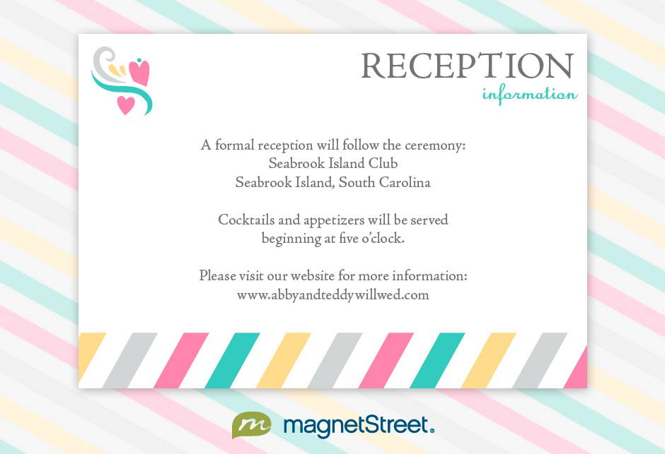 Informal Wedding Reception Invitation Wording PaperInvite