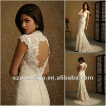 Keyhole Wedding Dresses Romantic Lace 2016 Keyhole Back Wedding