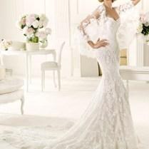 Lace Fitted Wedding Dress Pronovias Manuel Mota Erika