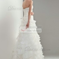 Lace Ruffle Wedding Dress