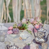 Lavender Theme Wedding Centerpieces