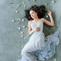 Light Blue Beach Wedding Dress