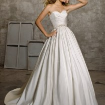 Luxe Taffeta Wedding Dress In White Or Ivory