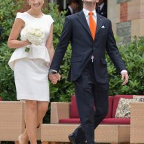 Luxembourg's New Princess Claire Lademacher Wears Short Wedding