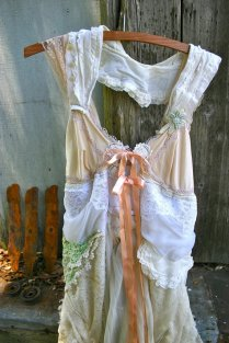 Mori Girl Dress Upcycled Wedding Tattered Bohemian By Novelatelier