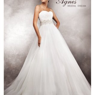 Non Strapless Wedding Gowns Agnes Agnes 10750 Wedding Dress Soft