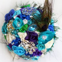 Online Get Cheap Peacock Bridal Bouquet