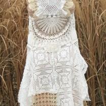 Ooak Vintage Lace Handmade Wedding Dress By Rubychicoriginals