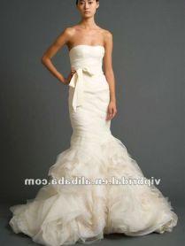 Orange And White Wedding Dresses