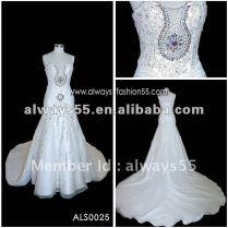 Orange White Wedding Dresses