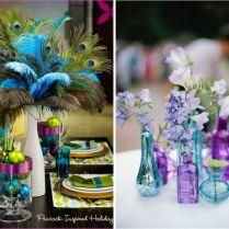 Peacock Wedding Dress And Ideas For Decor