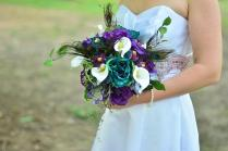 Peacock Wedding Flowers On Wedding Flowers With Peacock Feather